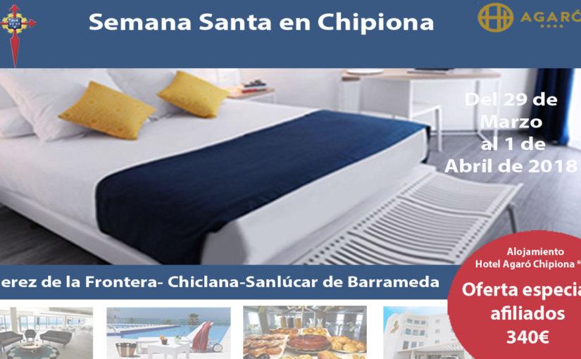 El Hotel AGARÓ Chipiona comienza la temporada de primavera el próximo 15 de marzo