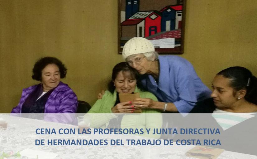 Cena con las profesoras y Junta Directiva del Centro de Costa Rica