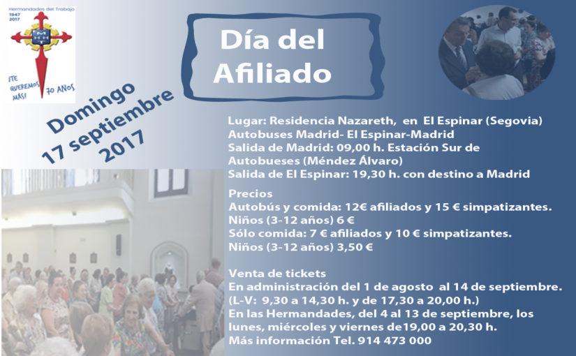 Hermandades del Trabajo – Centro de Madrid celebra el domingo 17 de septiembre el Día del Afiliado