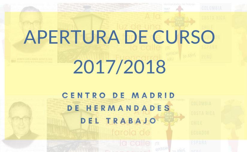 21 De Julio Apertura Del Curso 201718 En El Centro De Madrid De Hht