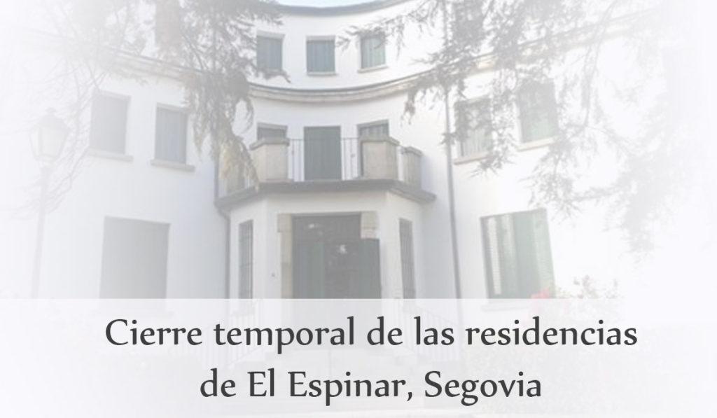 Cierre residencias de El Espinar, Segovia