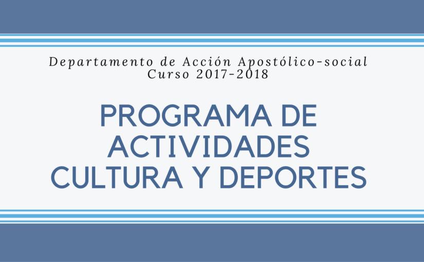 Programa de Área Cultura y Deportes 2017/2018