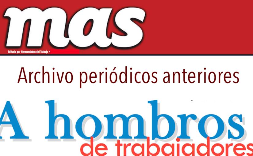 Archivo periódicos MAS y A Hombros 2016