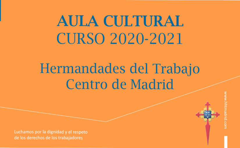 Aula Cultural de HHT Madrid, curso 2020-2021, virtual
