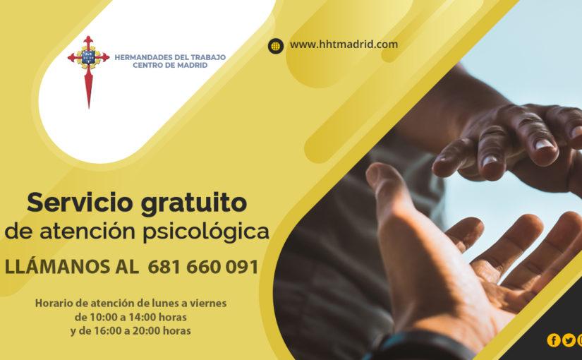 Hermandades del Trabajo-Centro de Madrid pone en marcha un servicio de atención psicológica telefónica mientras dure el estado de alarma