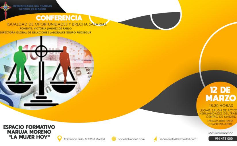 """Conferencia sobre la """"Igualdad de oportunidades y brecha salarial"""" ha sido supendida"""
