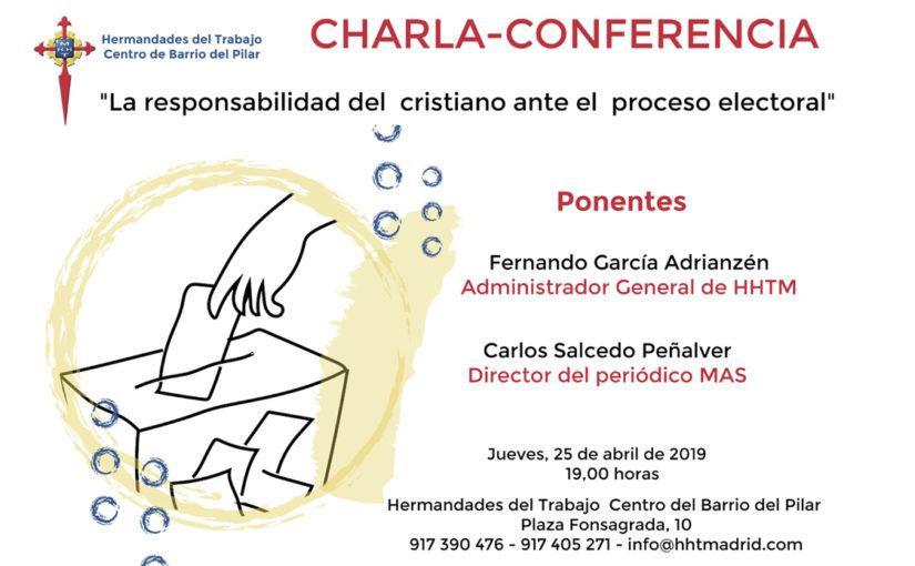 Charla-conferencia en Hermandades del Trabajo Centro de Barrio del Pilar