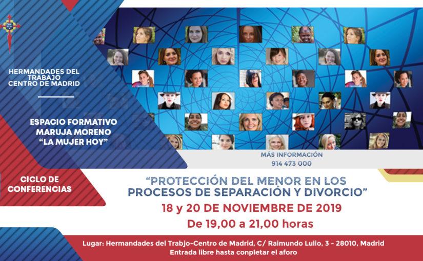 """""""Protección del menor en los procesos de separación y divorcio"""", primera ponencia del Espacio Formativo Maruja Moreno"""