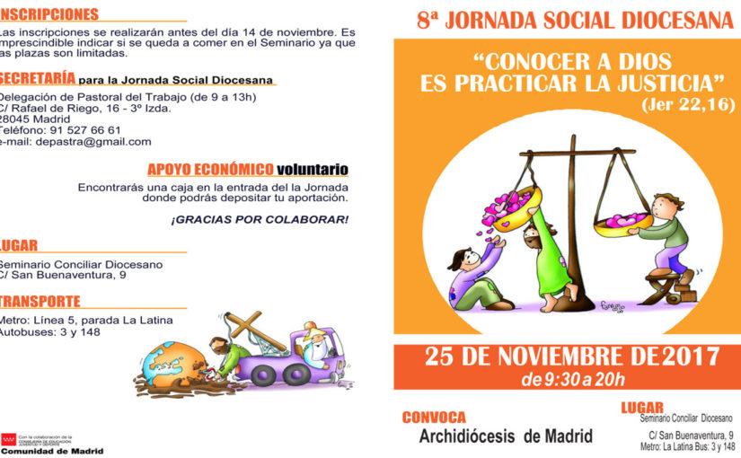 El 25 de noviembre se celebrará la 8ª Jornada Social Diocesana