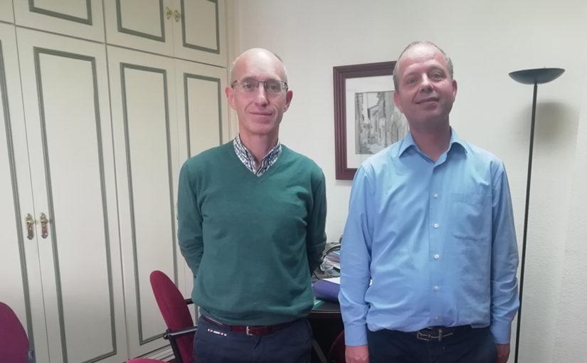 Juan y Rafael Jiménez Barba, abogados, en la Asesoría Jurídica del Centro de Madrid