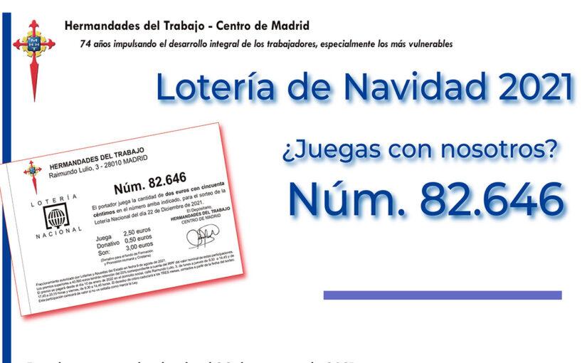 Participaciones de la Lotería de Navidad 2021 de Hermandades del Trabajo-Centro de Madrid, ya a la venta