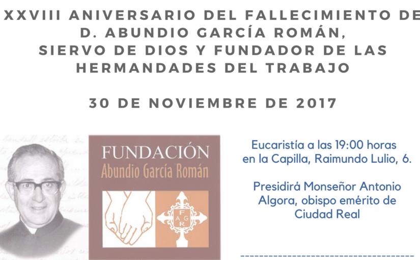 Hermandades del Trabajo celebra el XXVIII Aniversario del fallecimiento de su fundador