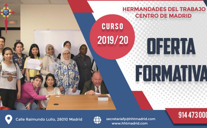 El Departamento de Formación Profesional de Hermandades del Trabajo-Centro de Madrid lanza su oferta formativa para el curso 2019/20
