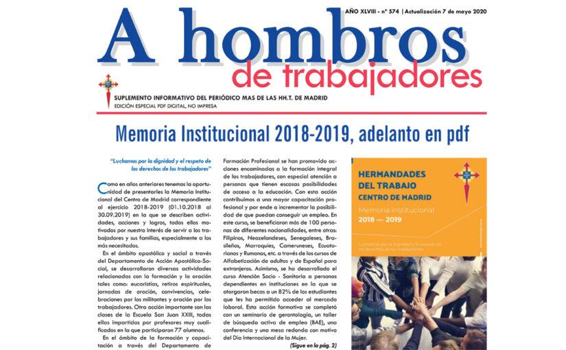 A Hombros, mayo 2020