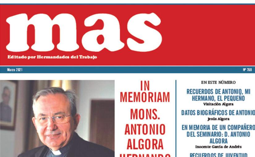MAS, marzo 2021, especial Mons. Antonio Algora