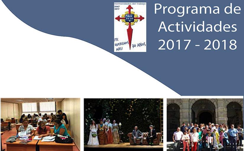 Programa de actividades Hermandades del Trabajo-Centro de Madrid 2017 – 2018