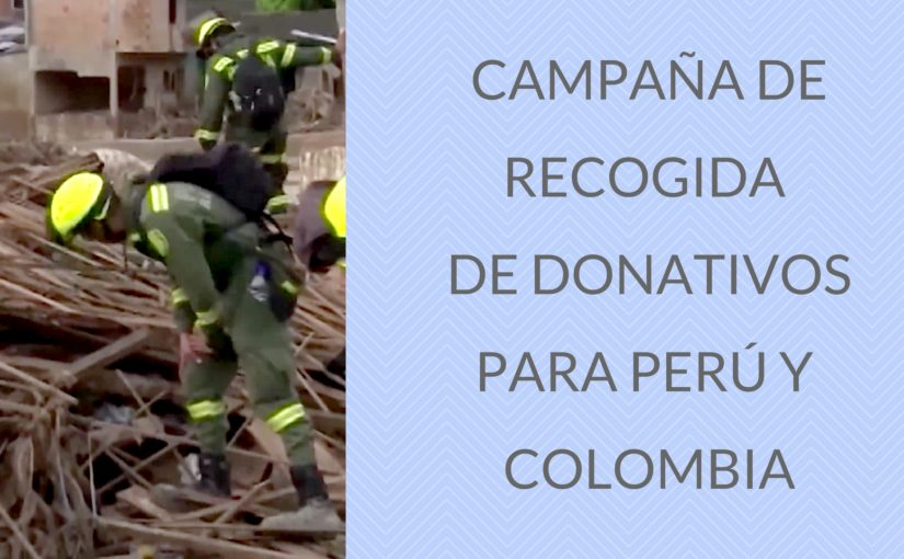 Recogida de donativos para Perú y Colombia
