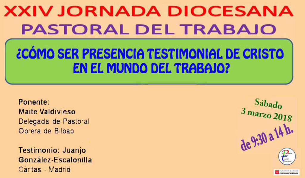 XXIV Jornada Diocesana de Pastoral del Trabajo